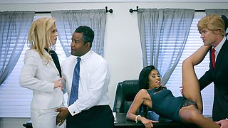 Election parody foursome fuck with partner swapping fun