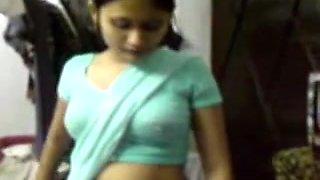Indian Cutie in Saree seducing