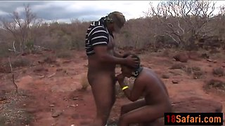 African sex slave gets eroticd to suck and ride hard dicks