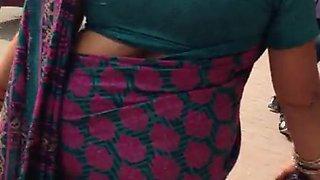 big ass sexy nepali aunty ass walk in saree