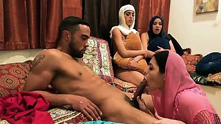Party girls suck first time Hot arab women attempt foursome