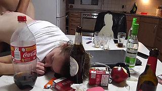 Drunk Schoolgrl Gets Fucked