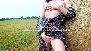 My public masturbator in the field.  ElsaRixterXXX