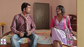 Hot Indian House Wife Forcing Romance with Office Boy