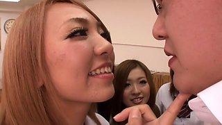 Fabulous Japanese model Mika Nakagawa, Yume Mizuki, Nao Kojima, Hikari in Horny upskirts, college JAV movie