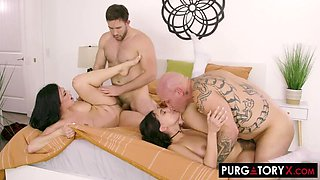 Hot Foursome with Violet Starr and Mona Azar
