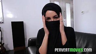 Hijab girl cheating husband before wedding