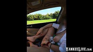 Public masturbation in the car