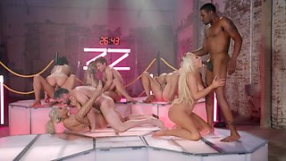 Final of sex show culminates with epic group sex party