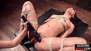 Loud bdsm sub squirts from femdoms punishment