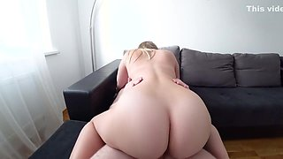 A young girl with a big ass fucks after a shower