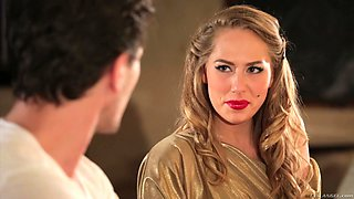 Hotel rendezvous with beautiful blond stranger Carter Cruise