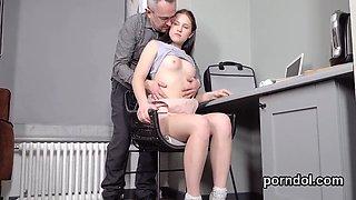 Innocent schoolgirl is seduced and rode by aged schoolteacher