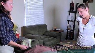 FLBabyGirls - Babysitter Wets The Couch