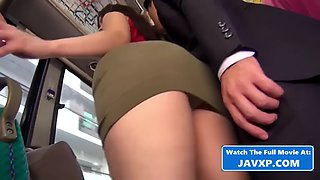 Asian teen fucked on the public bus (japan)