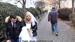 DEBT4k. Czech bride Claudia Macc fucked in front
