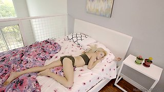 Horny stepdad punishes lazy step daughter Hope Harper