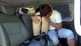 Korean couple sex in car