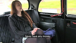 Love Creampie Naughty redhead student gets fucked by taxi