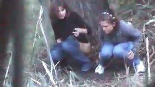 Outdoor pee spying