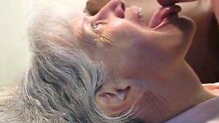 Granny sucks him dry