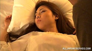 Asian hottie's fucked by a guy in her sleep