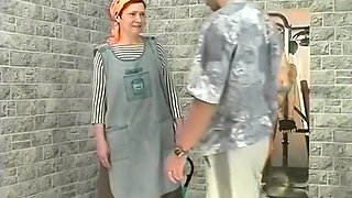 Young Stud Fucks His Old Maid's Muckhole