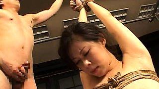 Helpless Oriental fetishist gets her holes drilled rough