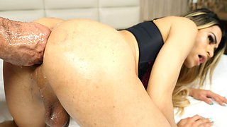 Tranny Gaby Lins Ass Fisted And Toyed Before Barebacking
