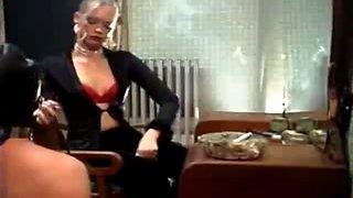 Miss nadia smoking fetish femdom