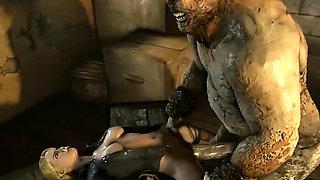 Goro from Mortal Kombat X fucking 3d teen