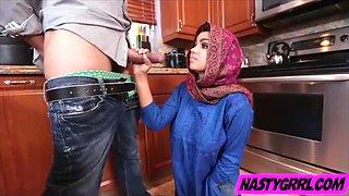 Hijabi girl Ada has to suck dick and obey