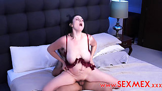 sexmex claudia valenzuela pushed by her step son