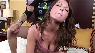 Amazing mom seduces good her son