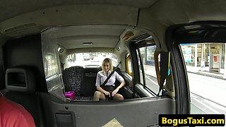 Facialized taxi british pounded ontop car bonnet