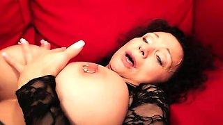 Kinky pierced milf with huge tits loves it nasty