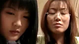 Japanese mature force girl to kiss