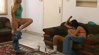 Two Horny Brazilian Lesbians Seduce Young Hot Teen