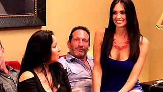 Blowjobs and orgasms for kinky swapped swinger couples!