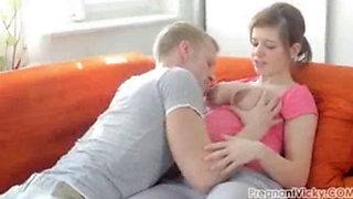 pregnant viktoria fevari oral on the sofa 2