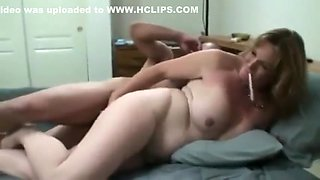 Big breasted stepmom smoking sex