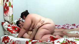 Lovely couple fucking in bed
