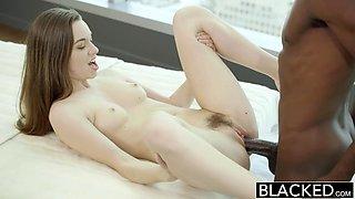 BLACKED Tali Dovas Boyfriend Lets her Try a Big Black Cock