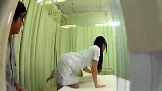 Hot Japanese school girl has a morning masturbation